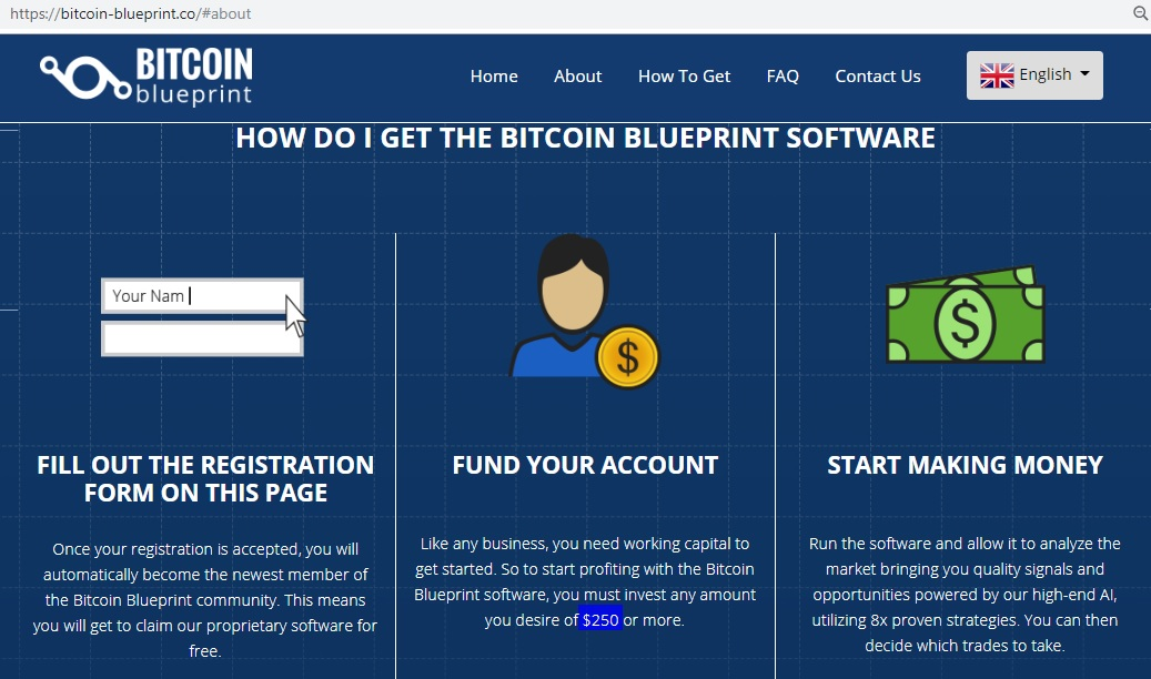 Bitcoin BluePrint registration